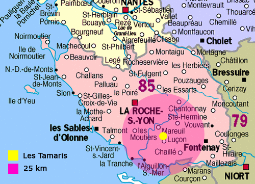 Carte de la Vendee