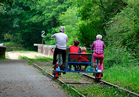 Velo-Rail at Commequiers, Vendee
